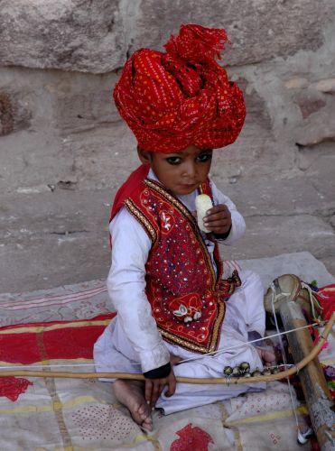 Zdjęcia: Jodhpur, Rajastan, grajek, INDIE