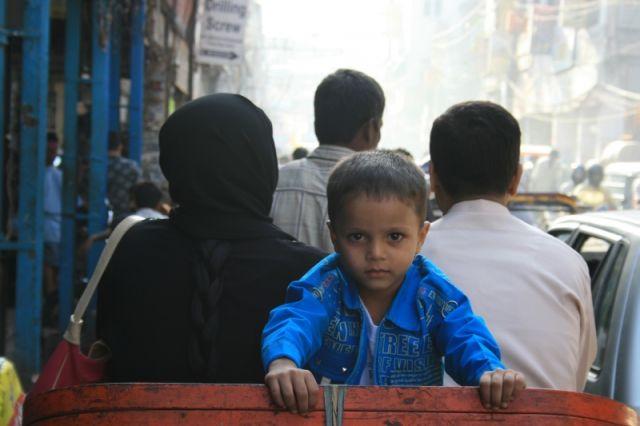 Zdjęcia: Delhi, Znajomy z rikszy obok, INDIE