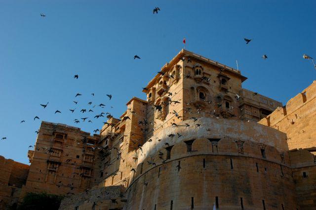 Zdjęcia: Jaisalmer, Rajastan, gołębie, INDIE