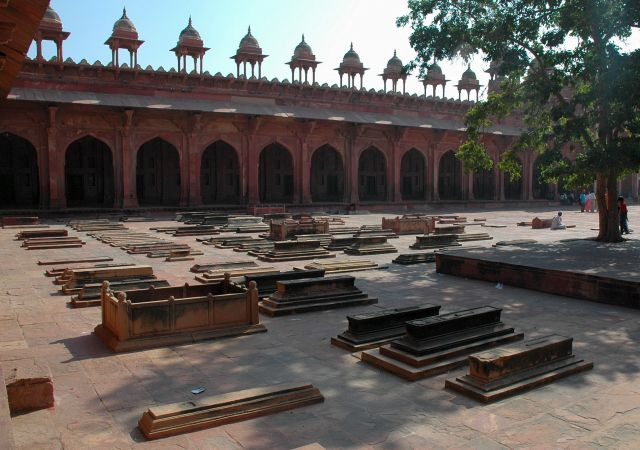 Zdjęcia: Fatehpur Sikri, Rajastan, groby, INDIE