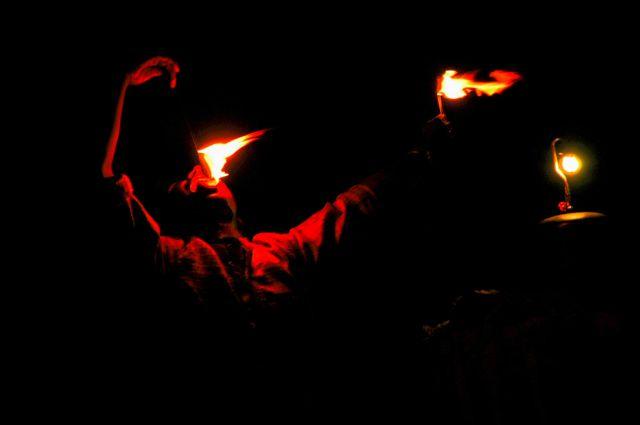 Zdj�cia: na pustyni, Rajastan, z ogniem.., INDIE