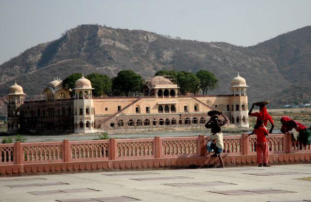 Zdjęcia: Jaipur, Rajastan, pałac na wodzie, INDIE
