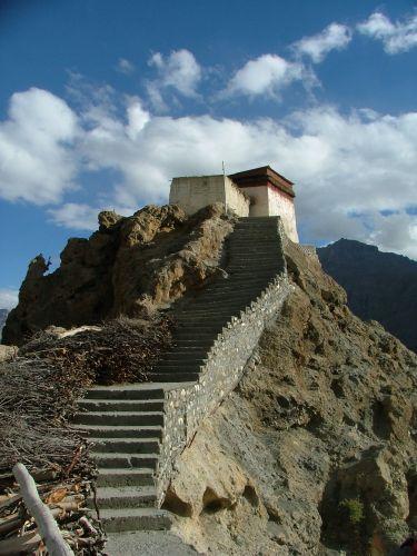 Zdjęcia: Dankhar, Spiti, schody do..., INDIE