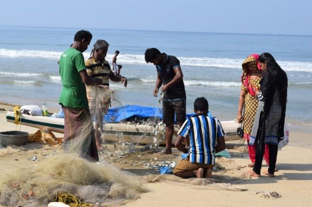 Zdjęcia: Varkala, Kerala, Połów, INDIE