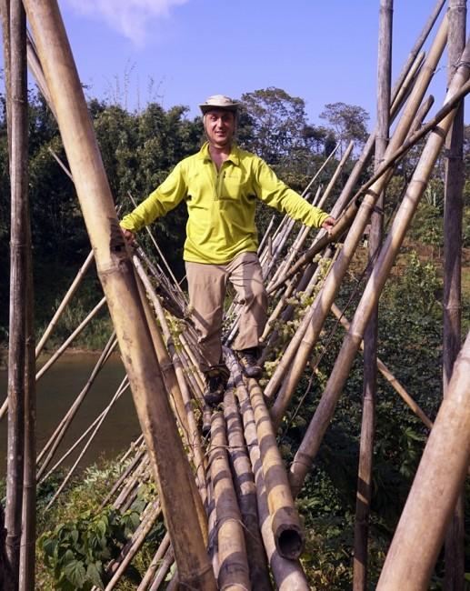 Zdjęcia: Mon, Nagaland, Bambusowy most, INDIE