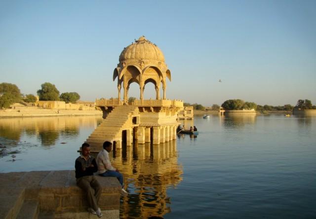 Zdjęcia: Jaisalmer, Radżastan, Jezioro na skraju pustyni, INDIE