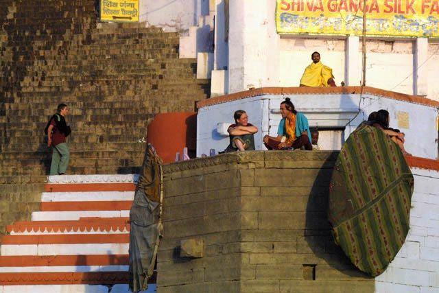 Zdjęcia: Waranasi, Uttar Pradesh, Spotkanie, INDIE