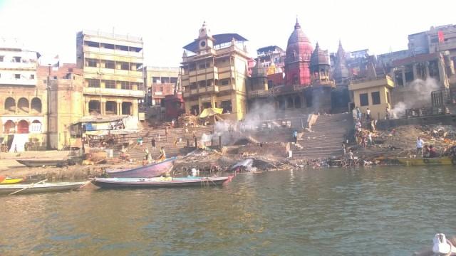 Zdjęcia: Varanasi, Uttar Pradeś, Ghat Manikarnika w Varanasi, INDIE
