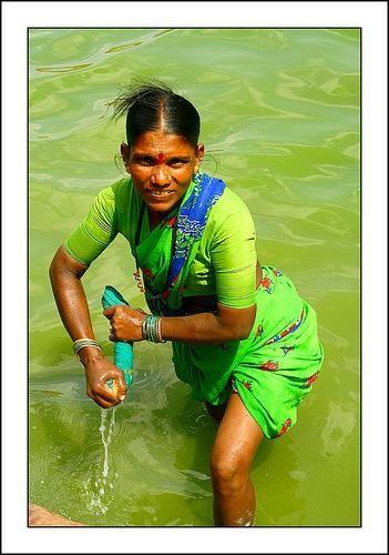 Zdjęcia: Badami, Karnataka, Zielona, INDIE