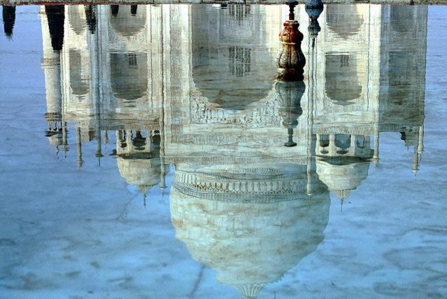 Zdjęcia: Taj Mahal, Agra, Taj Mahal inaczej ..., INDIE