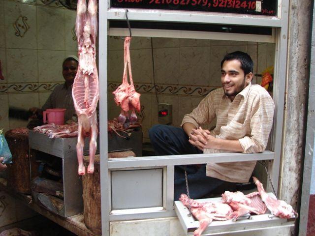 Zdjęcia: Dehli, Sklep mięsny, INDIE