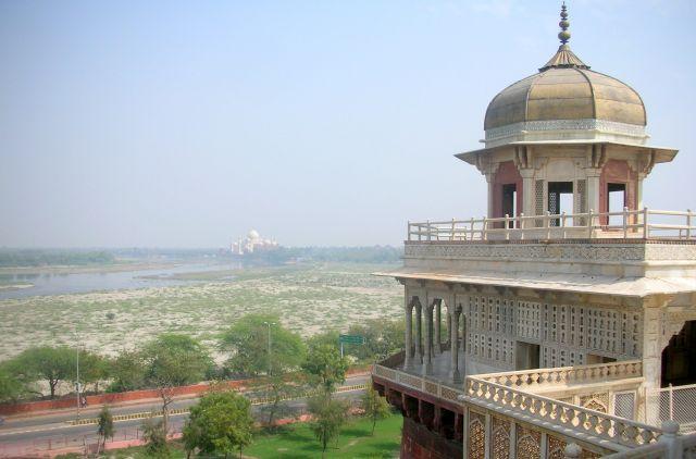 Zdjęcia: AGRA, a w oddali Tadż Mahal, INDIE