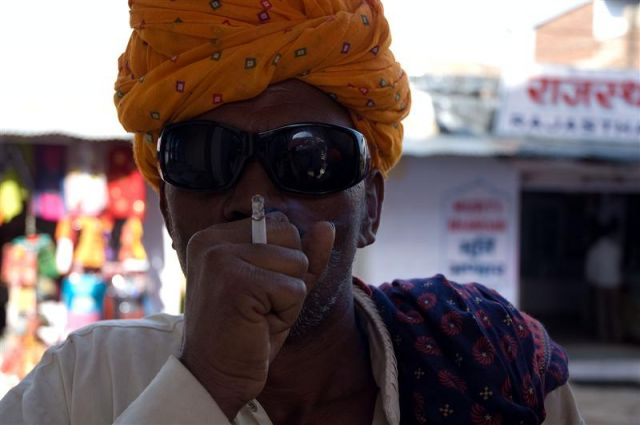 Zdjęcia: Pushkar, Radżastan, Mieszkaniec Pushkaru, INDIE