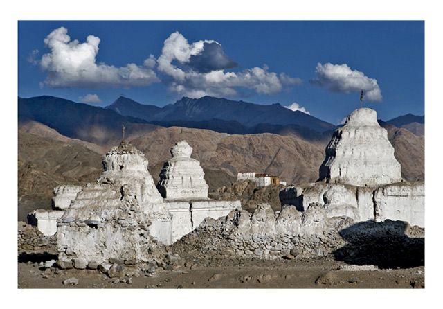 Zdj�cia: okolice Leh, Ladakh, Czorteny, INDIE
