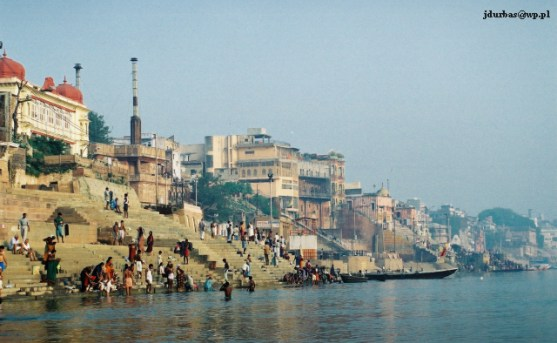 Zdjęcia: Benares / Waranasi, Uttar Pradesh, Panorama Benares z Gangesu, INDIE