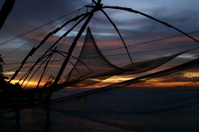 Zdjęcia: Koczin, Kerala, połowy w Koczinie, INDIE