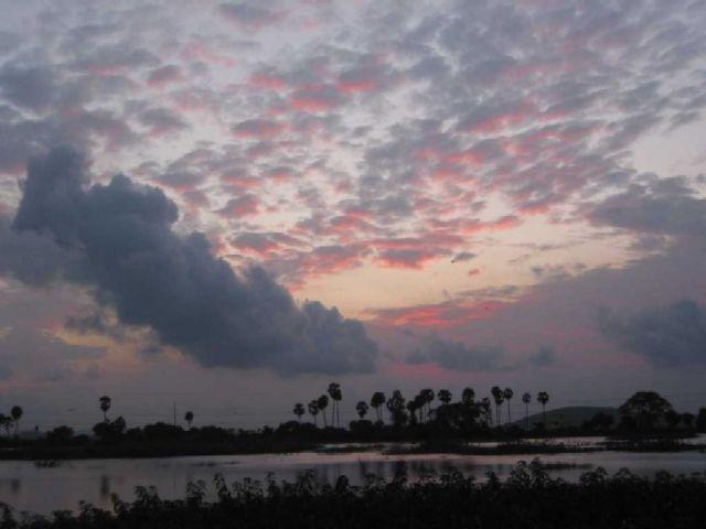 Zdjęcia: okolice Majabalipuram, Tamil Nadu, zmierzch, INDIE