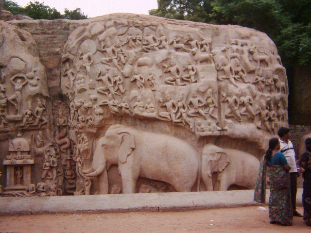 Zdjęcia: okolice Majabalipuram, Tamil Nadu, Narodziny Gangesu, INDIE