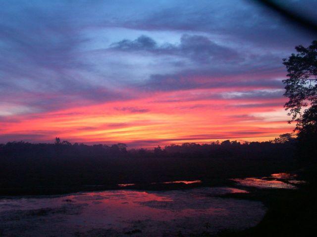 Zdjęcia: okolice Majabalipuram, Tamil Nadu, zachód słońca, INDIE