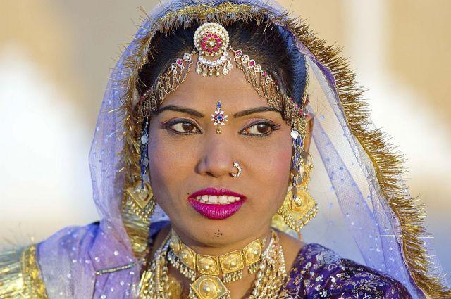 Zdjęcia: Pustynia, Radżastan, Oczy kobiety, INDIE