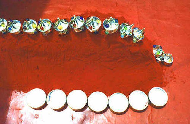 Zdjęcia: Haridwar, pigmenty, INDIE