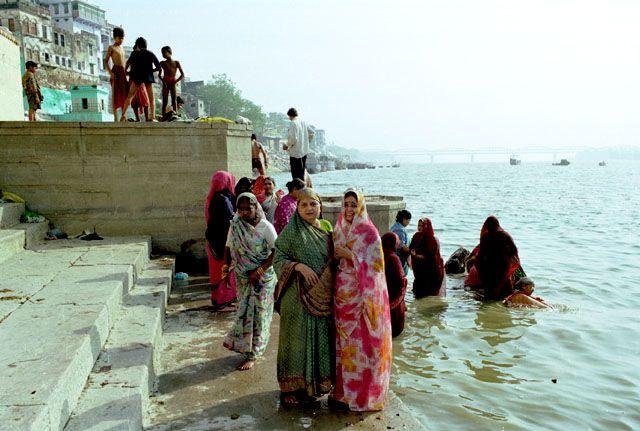 Zdjęcia: Varanasi, poranek na ghatach, INDIE