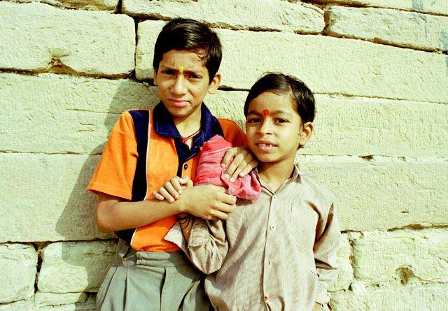 Zdj�cia: Varanasi, dzieci Varanasi, INDIE