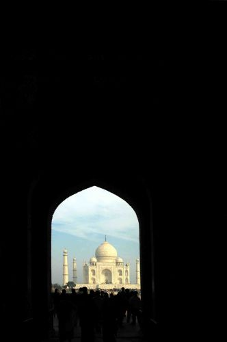 Zdjęcia: agra, brama przed Taj Mahal, INDIE