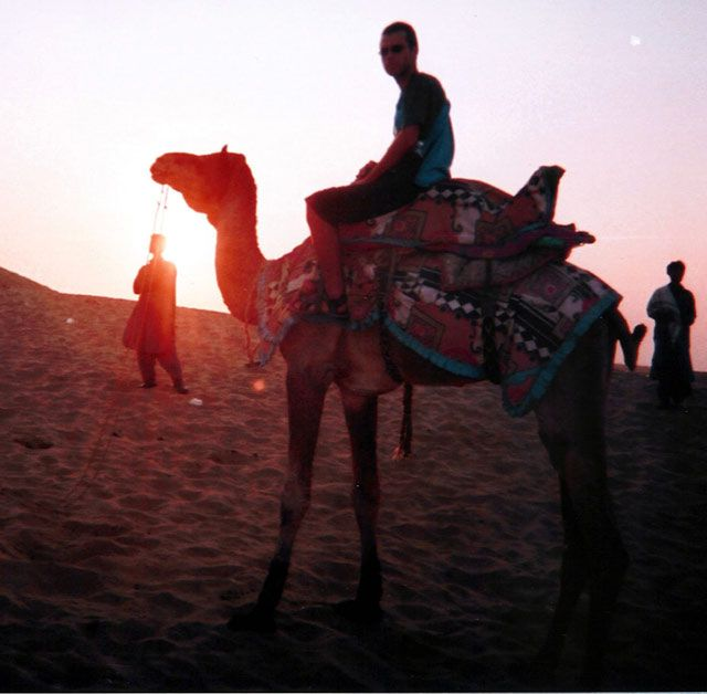 """Zdjęcia: Jaisalmer, Indie, """"Romantyczny"""" zachód słońca na pustyni, INDIE"""