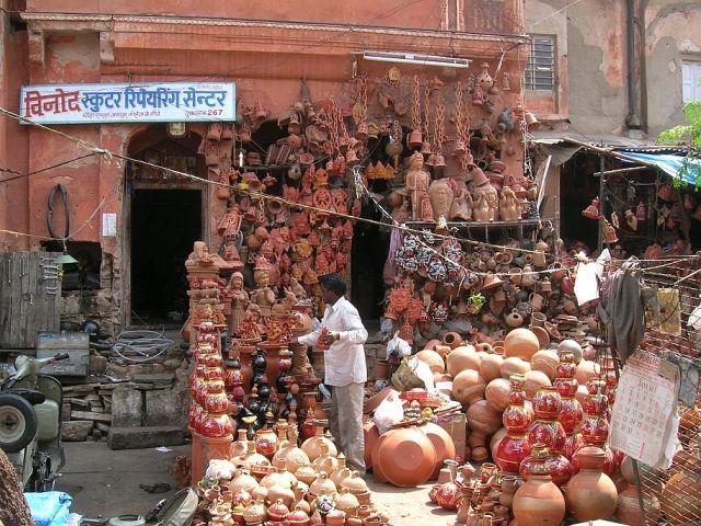 Zdjęcia: Jaipur, Radżastan, sklep garncarski, INDIE