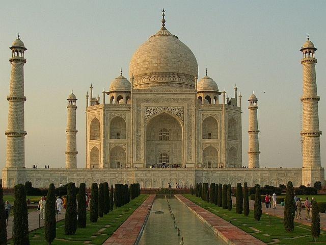 Zdjęcia: Agra, Uttar Pradesh, Taj Mahal o zachodzie 3, INDIE