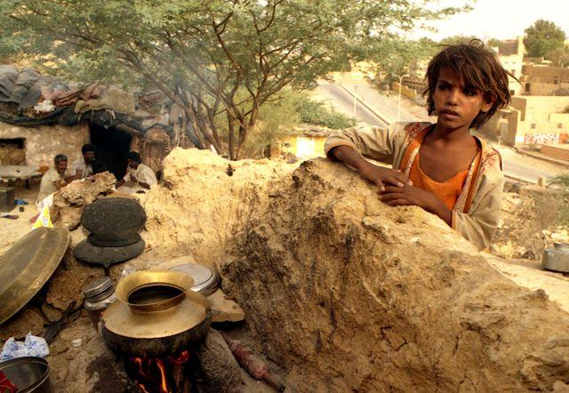 Zdjęcia: Jaisalmer, Rajasthan, osada na peryferiach miasta, INDIE