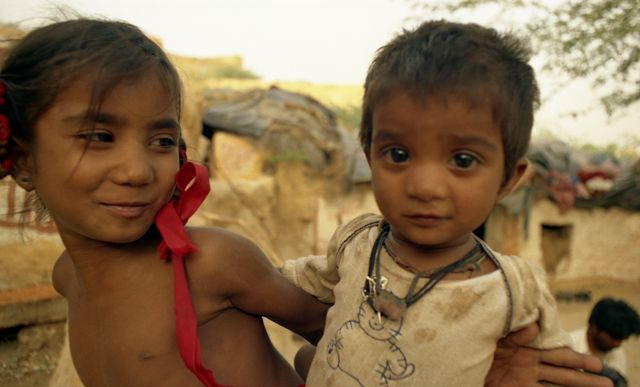 Zdj�cia: Jaisalmer, Rajasthan, dzieci Santosh, INDIE