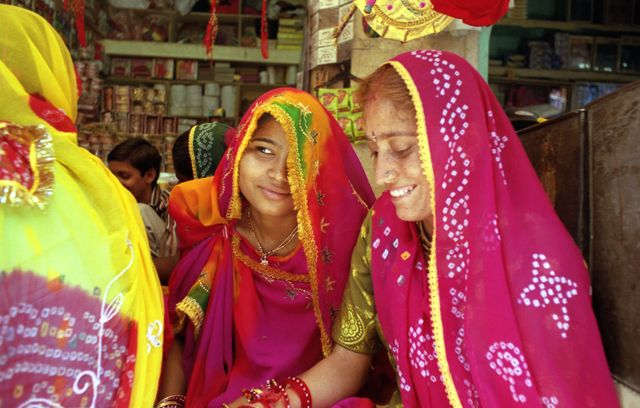 Zdj�cia: Jodhpur, Rajasthan, kobiety Rajasthanu, INDIE
