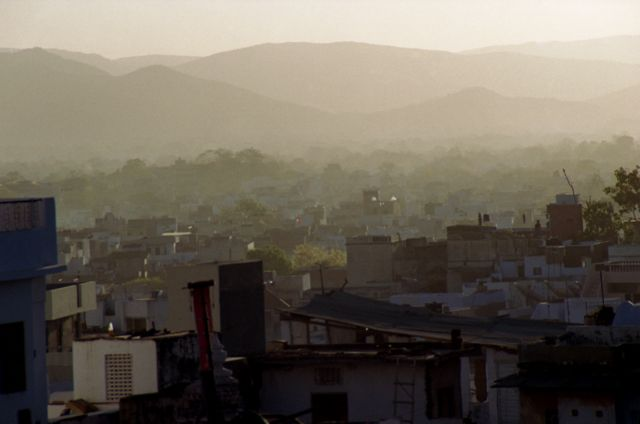 Zdjęcia: Udaipur, Rajasthan, miasto o świcie, INDIE