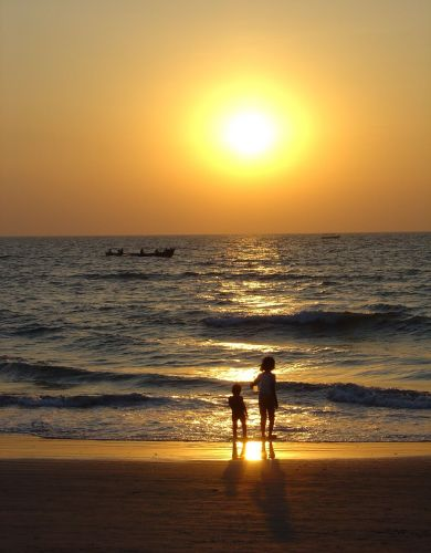 Zdj�cia: Goa, Zach�d s�o�ca na Goa, INDIE
