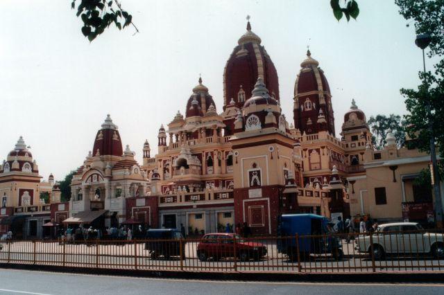 Zdj�cia: NEW DELHI,  �wi�tynia Lakszmi Narajany., INDIE