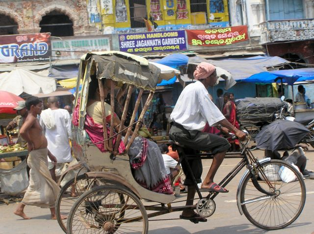 Zdjęcia: Puri, Orissa, Ryksza rowerowa, INDIE
