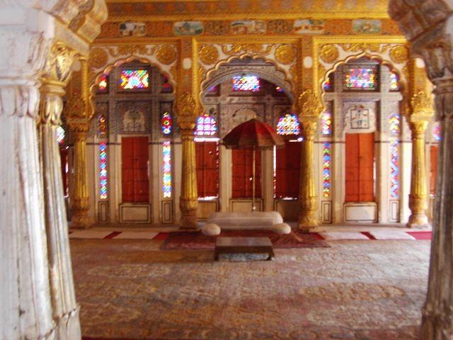 Zdjęcia: Jodhpur, Rajasthan, fort Meherangarh - wystrój wnętrz, INDIE