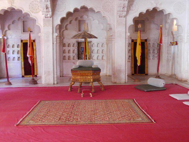 Zdj�cia: Jodhpur, Rajasthan, fort Meherangarh wystr�j wn�trz, INDIE