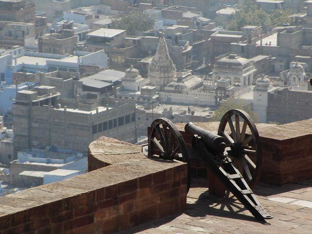 Zdjęcia: Jodhpur, Rajasthan,  widok z fortu na miasto:-), INDIE