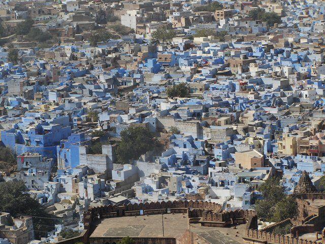 Zdjęcia: Jodhpur, Rajasthan, błekit Jodhpuru, INDIE
