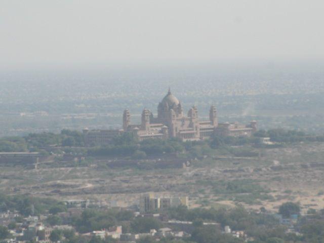 Zdjęcia: Jodhpur, Rajasthan, widok na pałac Umaid Bhawan, INDIE