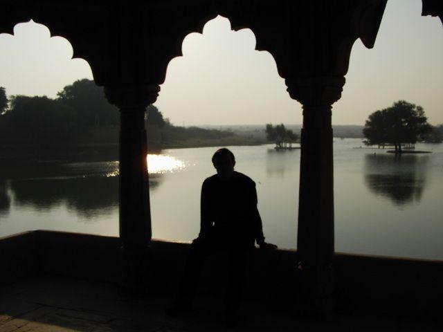 Zdj�cia: Jaisalmer - pustynia Thar, Rajasthan, nad jeziorkiem, INDIE