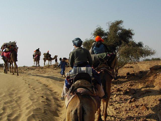 Zdjęcia: Jaisalmer - pustynia Thar, Rajasthan, karawana, INDIE