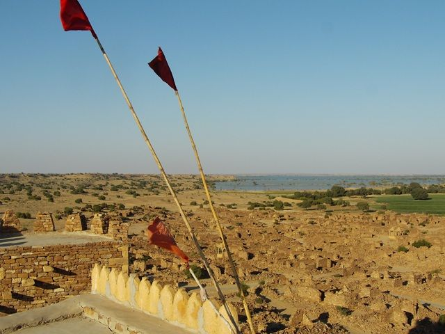 Zdjęcia: Jaisalmer - pustynia Thar, Rajasthan, widok z fortu, INDIE