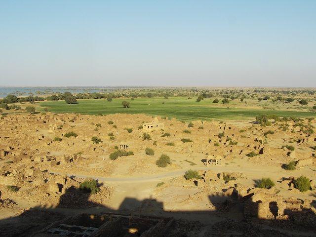 Zdj�cia: Jaisalmer - pustynia Thar, Rajasthan, widok z fortu, INDIE