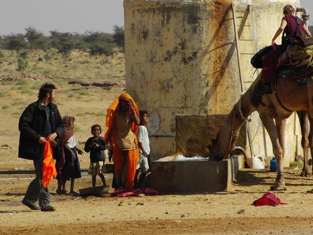 Zdjęcia: Jaisalmer - pustynia Thar, Rajasthan, w wiosce, INDIE