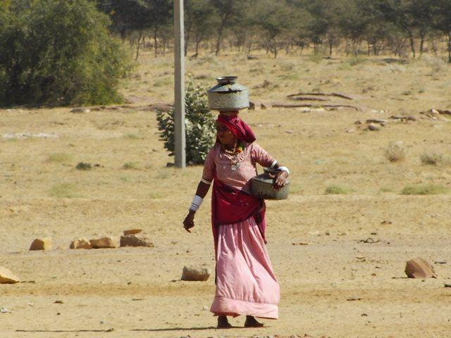 Zdjęcia: Jaisalmer - pustynia Thar, Rajasthan, życie w wiosce, INDIE