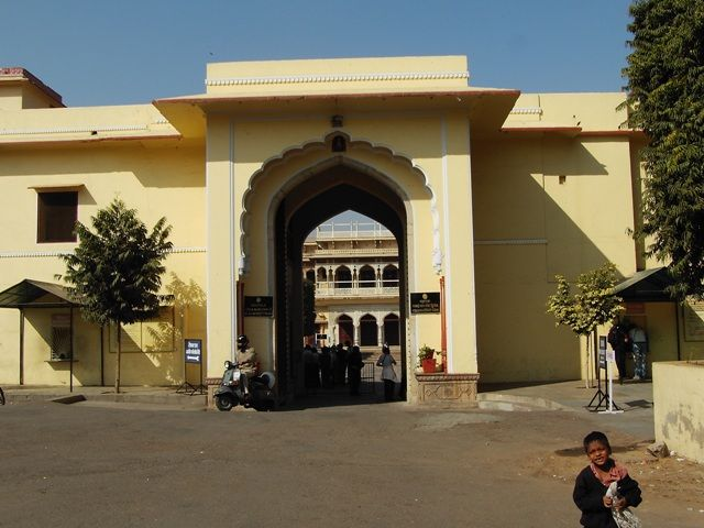 Zdjęcia: Jaipur, Rajasthan, brama do pałacu maharadży, INDIE